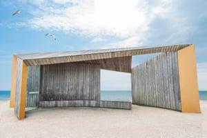 "Bexhill Promenade Shelter, by Adam Regan, taken in Bexhill, East Sussex: ""The promenade shelter is an elegant and appealing solution to a mundane problem."""