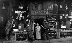 Bittersweet ending … a street in Berlin, December 1928.