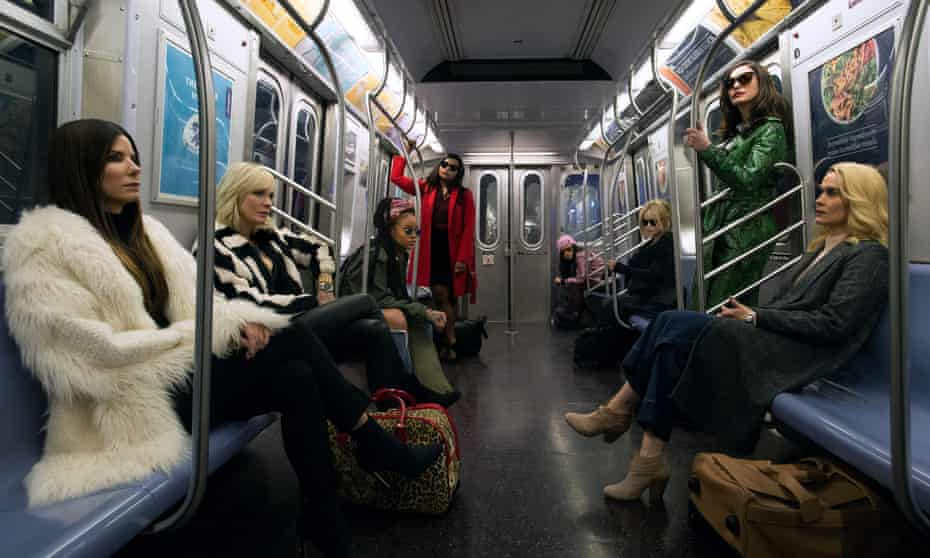 Sandra Bullock, Cate Blanchett, Rihanna, Mindy Kaling, Awkwafina, Helena Bonham Carter, Anne Hathaway and Sarah Paulson in Ocean's 8.