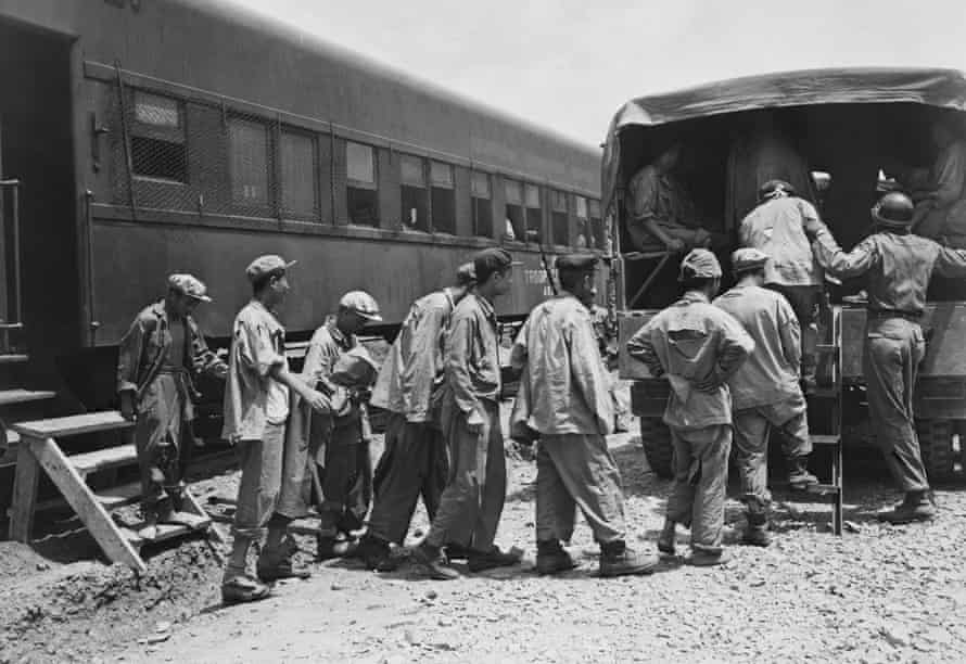 POWs during Operation Big Switch after the end of the Korean War