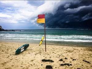 The cloud over Coogee beach, east of the city centre