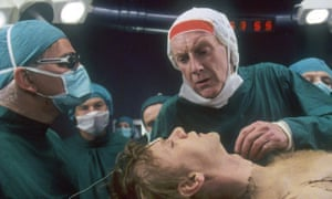 Savage satire … Graham Crowden and Malcolm McDowell in Britannia Hospital.