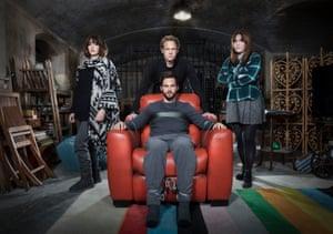 Ill Behaviour cast: Nadia (Lizzy Caplan), Charlie (Tom Riley), Joel (Chris Geere), Tess (Jessica Regan)