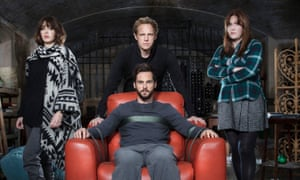 Lizzy Caplan, Tom Riley, Chris Geere and Jessica Regan in Ill Behaviour.