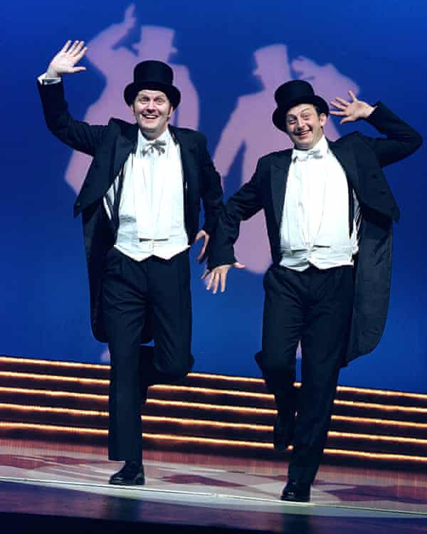 Sean Foley and Hamish McColl in The Play What I Wrote at Wyndham's theatre.