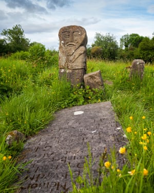 'Two faced stone / On burial ground, / God-eyed, sex-mouthed': Boa Island.