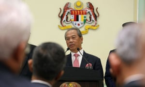 Malaysia's prime minister, Muhyiddin Yassin, speaks during a news conference