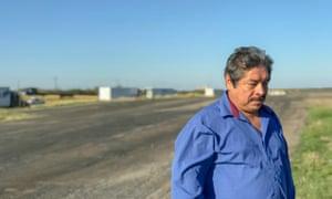 Armando Ortiz, father of Janelle Ortiz, at the site where her body was found