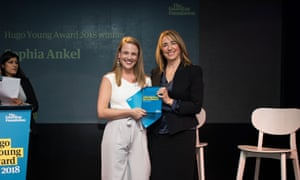The Hugo Young Awards. 2018. King's Place. 22/3/18 The winner Sophia Ankel and Katharine Viner, Editor-in-Chief, The Guardian