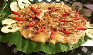 Tempoyak with anchovies and chillies