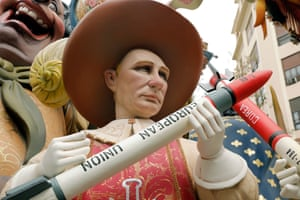 Valencia, Spain  A ninot, or wooden sculpture,