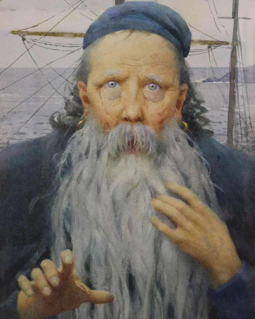 A detail from Thomas Cooper Gotch's It Is an Ancient Mariner (1925).