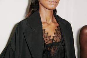 Lace details highlighted the feminine side of Beckham's designs