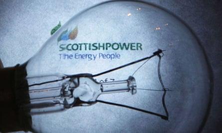Light bulb and Scottish Power logo