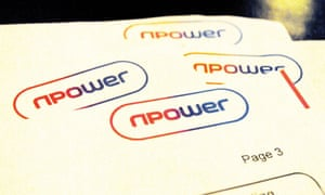 Pages of an energy bill from npower