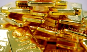 Gold bars in Bangkok. Mae Manee, 28, allegedly set up a fake gold shop to convince investors of her successful lifestyle.