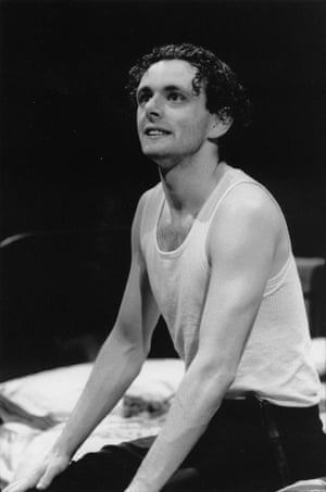 Michael Sheen as Jimmy Porter in a 1995 production of John Osborne's Look Back in Anger, directed by Greg Hersov. Hersov and Sheen did the play together again four years later at the National Theatre.