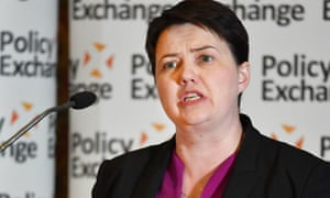 Ruth Davidson speaks at the conference, organised by the Policy Exchange thinktank.