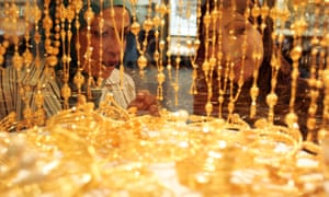 Shoppers in Dubai's gold souk, one of the most important gold markets in the Middle East.