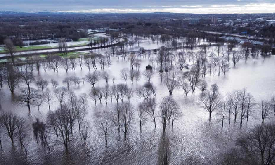 Withington golf course, after the River Mersey broke its banks in Didsbury, Manchester, 21 January.