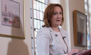 Suzanne Evans makes a statement at Mary Sumner House in Westminster this morning.