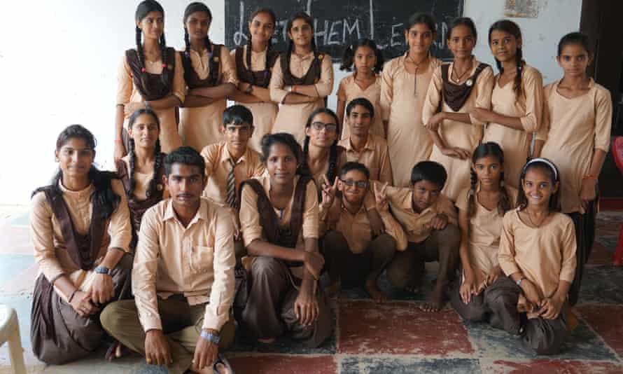 Children in a classroom in India