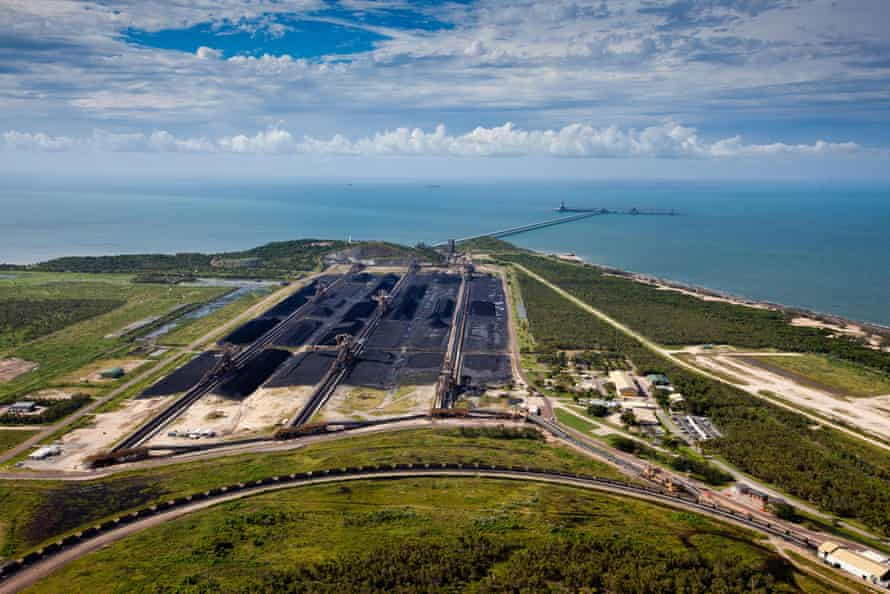 Abbot Point, surrounded by wetlands and coral reefs, would become the world's largest coal port if the Carmichael mine goes ahead.