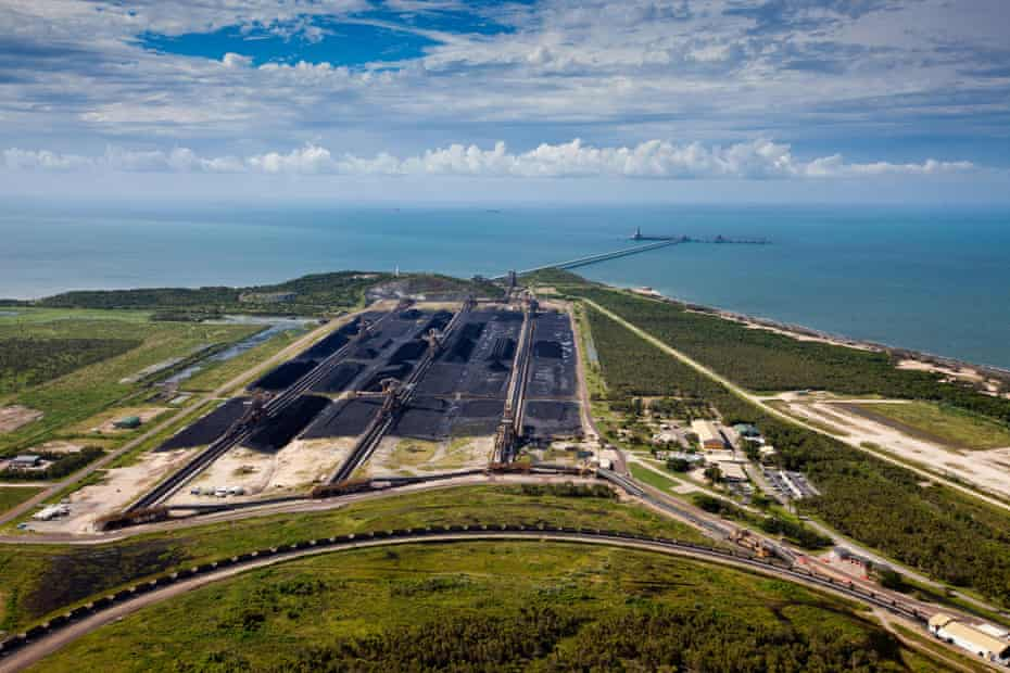 Abbot Point, surrounded by wetlands and coral reefs, is set to become the world's largest coal port should the proposed Adani expansion go ahead.