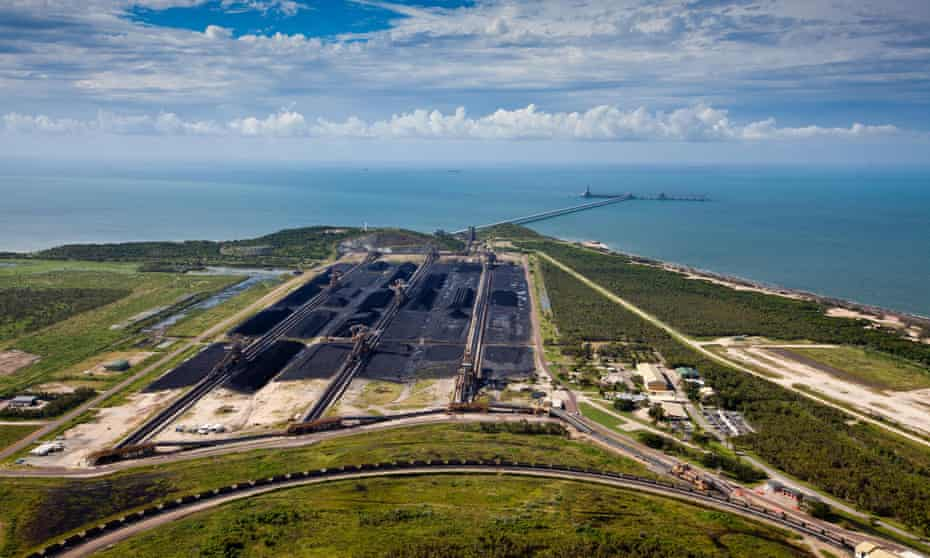 Abbot Point coal terminal in Queensland, which is leased to coalminer Adani.