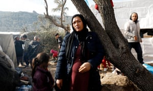 Saber, 39, from Afghanistan at the makeshift camp next to Moria