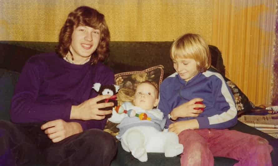 Helen Parr as a baby in 1975, with her uncles Chris, aged 16, and Dave, 12.