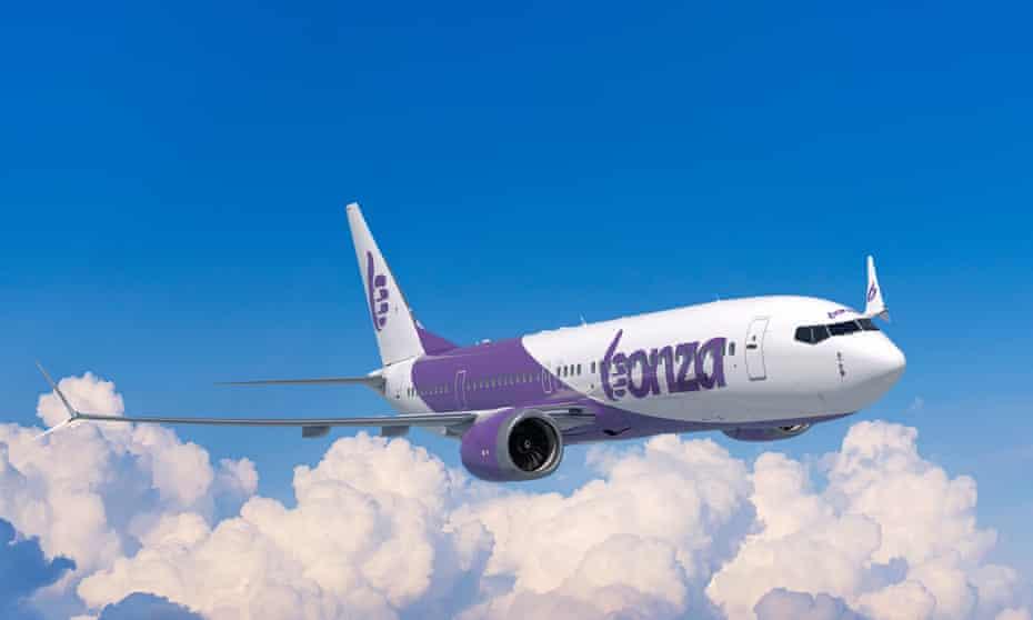 A Bonza aircraft in flight