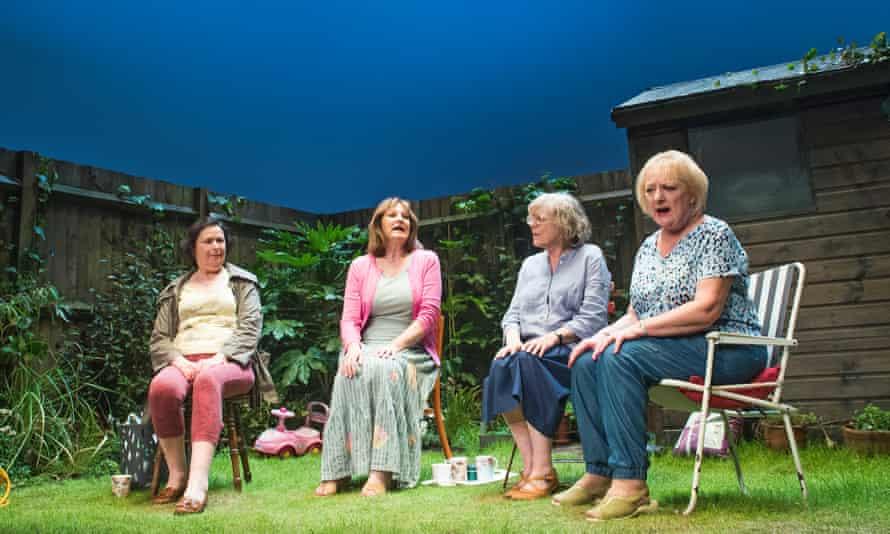 Linda Bassett, Deborah Findlay, Kika Markham and June Watson in Escaped Alone.