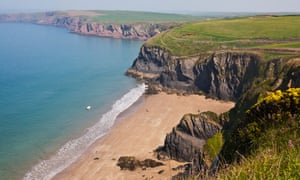 Musselwick Sands near Marloes in Pembrokeshire.