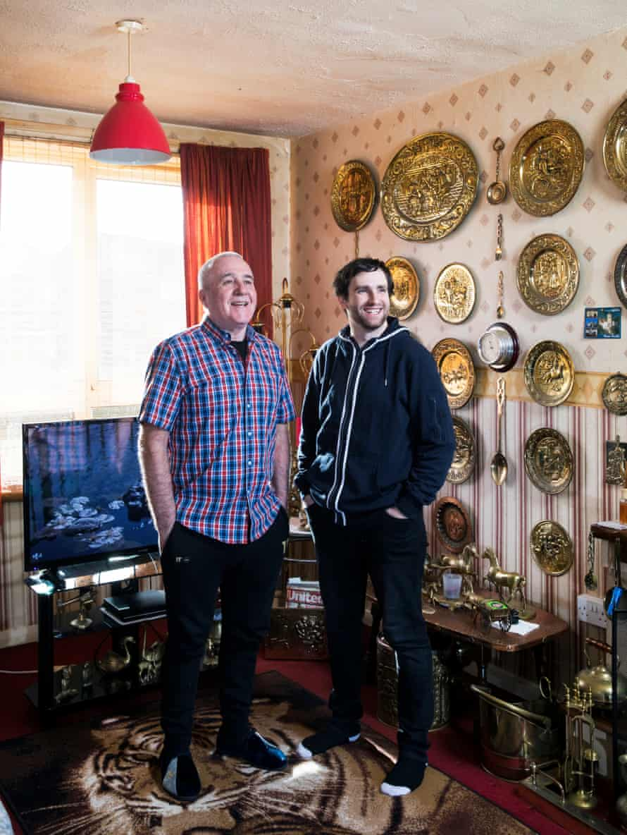 Andy Marsland, left, shares his home in Greater Manchester with George Oprișanu from Romania