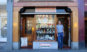 Ramon Hogendoorn at the closing-down sale of his family business.