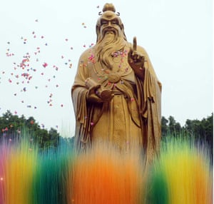 A statue of Laozi, the founder of Taoism, in Luoyang, China.