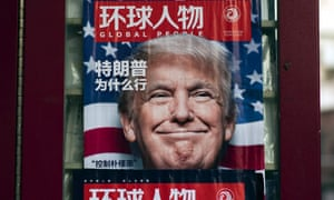 Donald Trump of the cover of a magazine in China.