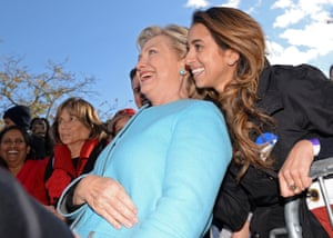 Manchester, USThe Democratic presidential candidate, Hillary Clinton, meets supporters during a campaign rally at Saint Anselm College in New Hampshire
