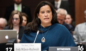 Jody Wilson-Raybould testifies before the House of Commons justice committee in Ottawa on 27 February.