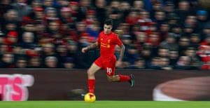 Coutinho's on the run.