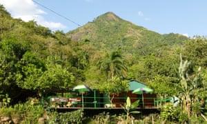 Casa Sierra Maestra in the Sierra Maestra mountains, where Fidel Castro started the Cuban revolution.