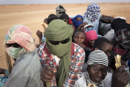Refugees head from Agadez, Niger, towards Libya. Niger, Nigeria, Burkina Faso and Mali are expected to see huge displacement.
