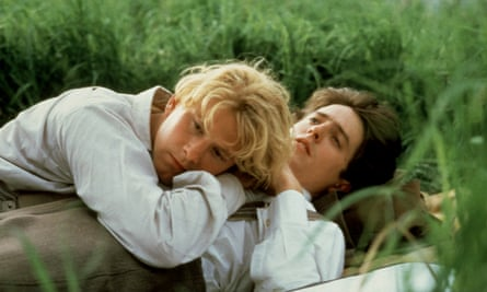 James Wilby and Hugh Grant in Maurice.