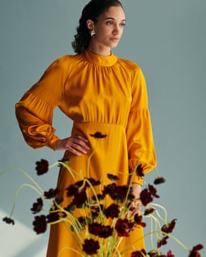 Ethical flare Mirla Beane saves the frills for its clothes, tailored for the everyday, occasion and working wardrobe with a broad and inclusive age range featuring beautiful clothes, such as this fit and flare saffron dress. The brand's ethical practice focuses on local makers believing that nothing should be more than a train-ride away. The team is small and streamlined so producers are paid a genuine living wage, while keeping the price point fair for consumers. From £39-£350, mirlabeane.com