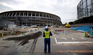 The real Tokyo: the new Olympic stadium under construction for the 2020 Games