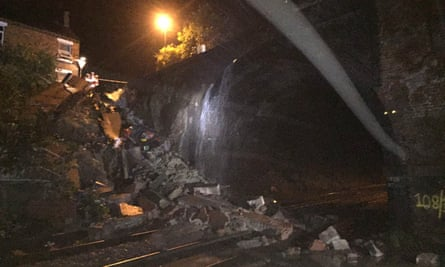 The partial bridge collapse at Barrow upon Soar, near Loughborough in Leicestershire, which has caused major disruption to train services between London and the east Midlands.
