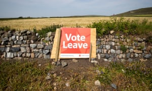 A pro-Brexit poster in a field in rural Cornwall.