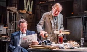 Media greed … Bertie Carvel as Rupert Murdoch and Geoffrey Freshwater as Sir Alick McKay in Ink at the Almeida, London.
