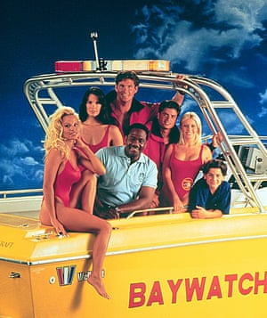Pamela Anderson, David Hasselhoff and all in the original Baywatch.